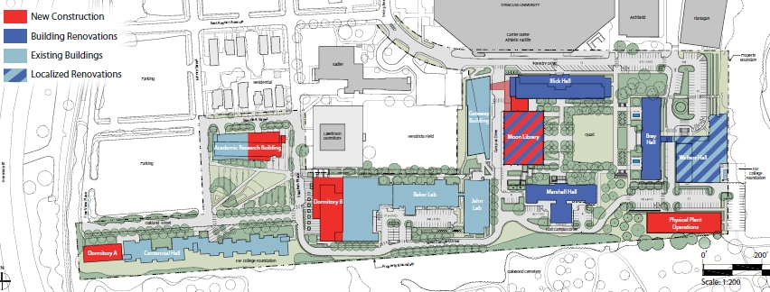 Suny Esf Campus Map.Simcampus Designing A Facilities Plan For Esf Erengineering