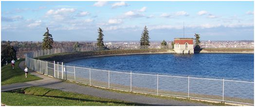 Figure 1 - Woodland Reservoir prior to construction of new ultraviolet light treatment facility.