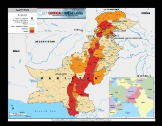 Figure 1: Severity of Flooding by district Pakistan