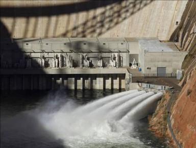 Figure 1: The Colorado River is flooded November 19, 2012 from bypass tubes at Glen Canyon Dam in Page, Arizona.