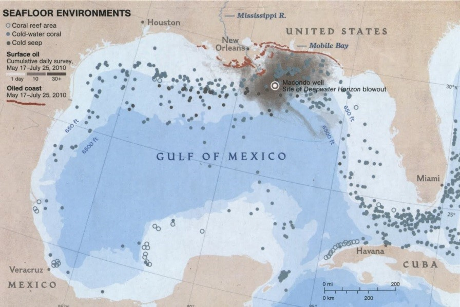 ERE Student Ryan Shene On WRE Article Worst Oil Spill In US - Map of oil spills in the us