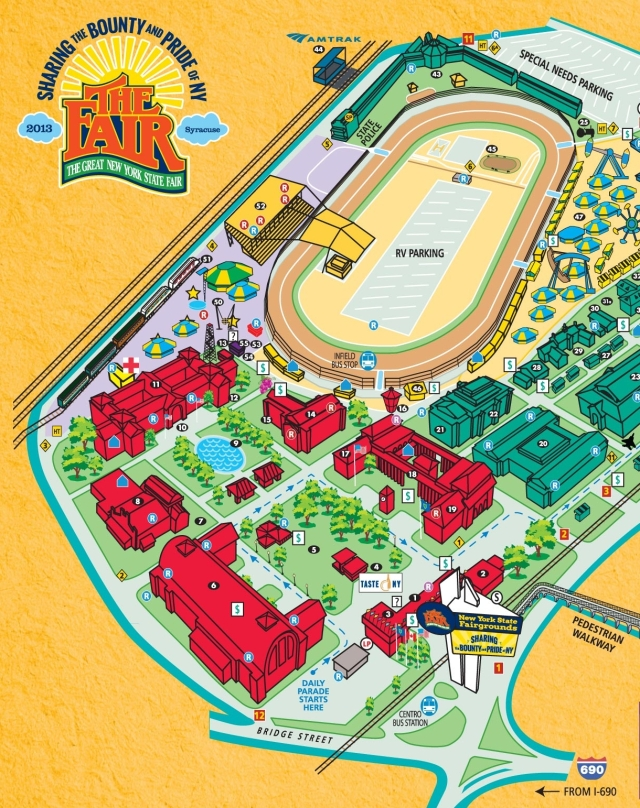 Map of the NYS Fair, with our ESF ERE booth near the Horticulture Building.