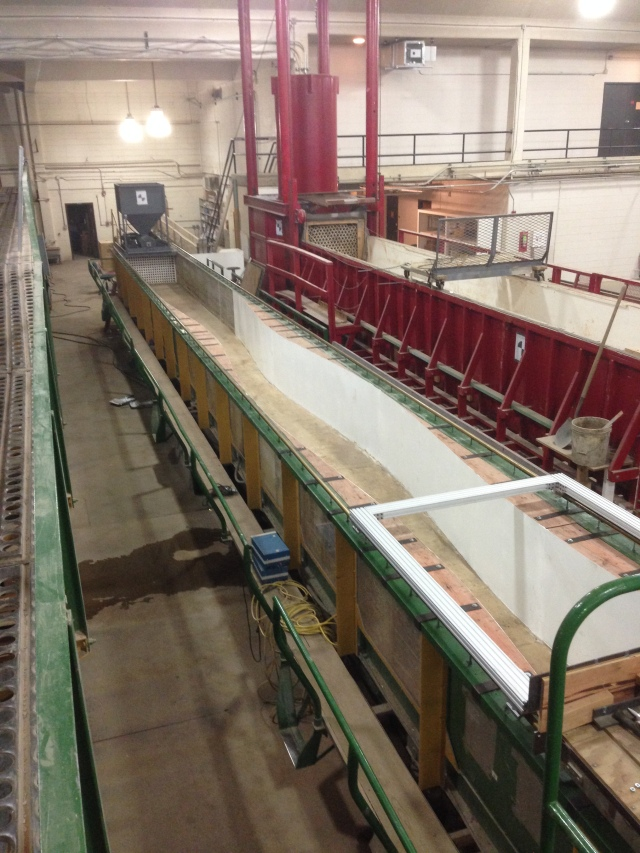 Sinuous flume in main ERC.