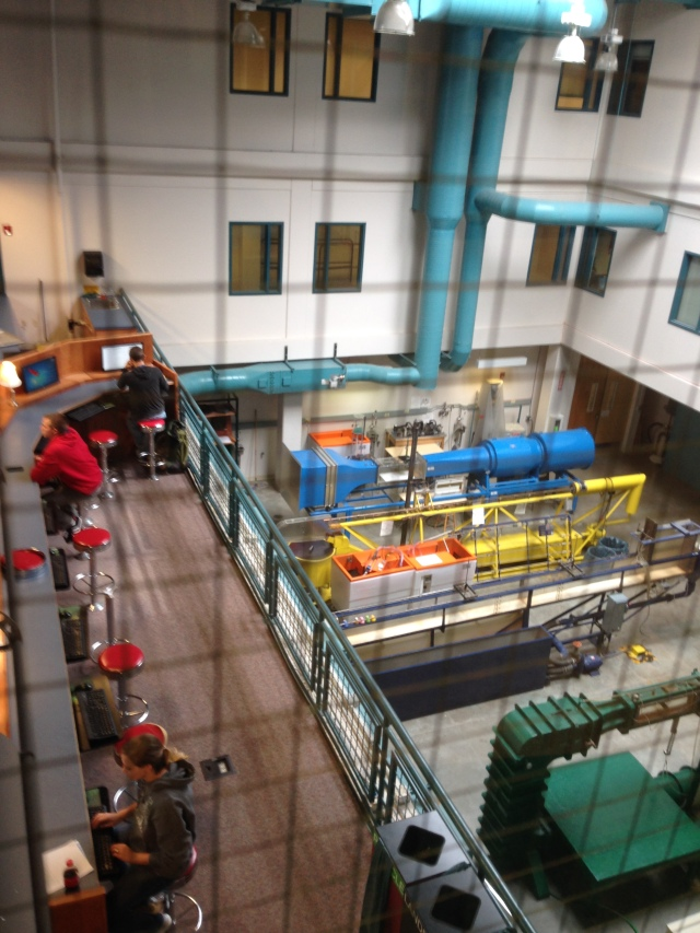 Set of standard teaching flumes and hydraulic benches in CSU's Engineering Building, similar to those used at ESF in Baker Labs.