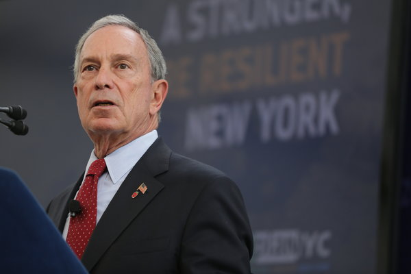 Mayor Bloomberg unveils his $20 billion flood mitigation plan at the Brooklyn Navy Yard on Tuesday, June 11th, 2013. Source: The New York Times.