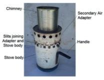 Assembled top lit updraft stove (Birzer et al., 2013).