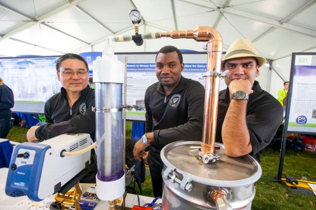 Alexandria, Virginia — Student teams gather for the U.S. EPA P3 Competition at the National Sustainable Design Expo at Oronoco Bay Park.