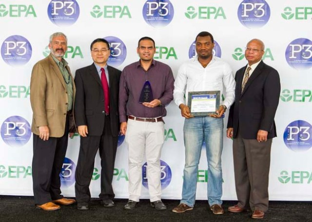 Alexandria, Virginia — SUNY Albany wins a 2015 P3 Award during the P3 Awards Ceremony at Oronoco Bay Park.