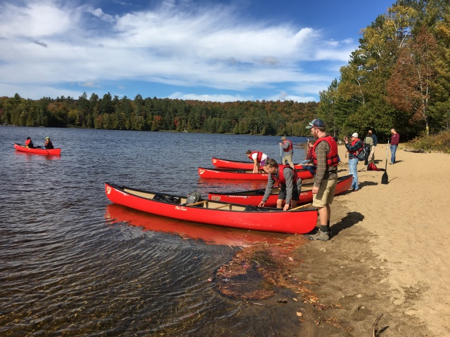 Canoe launch onto Rich Lake.