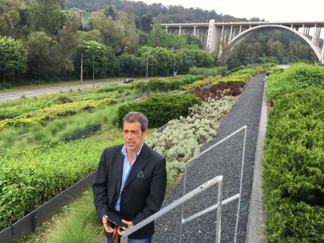 Carlos Ribas on the 8.4 ha green roof he designed fro Alcantara Wastewater Treatment Plant in Lisbon.