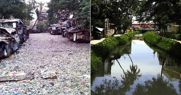 Figure 1. The cleanup of Manila's Estero de Paco pictured above has become a model for other rehabilitative efforts around other rivers in Manila like the Pasig River.