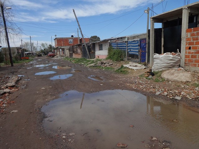 Figure 2. Street of Villa Infamable shantytown, where population is exposed to toxic waste caused by pollution.
