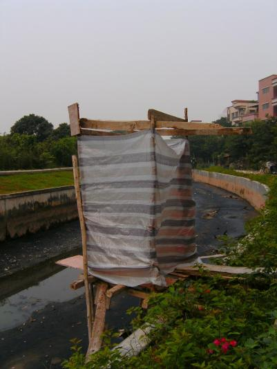 Figure 1 Raw Sewage being dumped directly into river