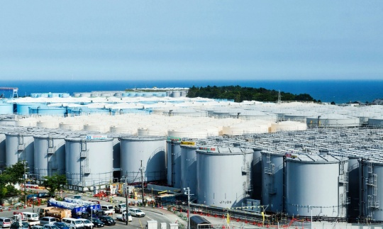 Figure 2. Tanks used to store contaminated water at the Fukushima Nuclear Power Plant. (NY Times)